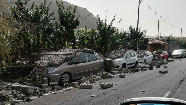 Umgestürzte Mauer